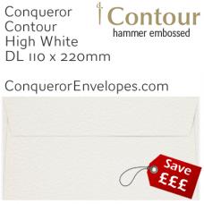 Contour High White DL-110x220mm Envelopes