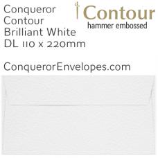Contour Brilliant White DL-110x220mm Envelopes