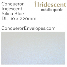 Iridescent Silica Blue DL-110x220mm Envelopes