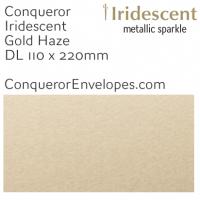 Iridescent Gold Haze DL-110x220mm Envelopes