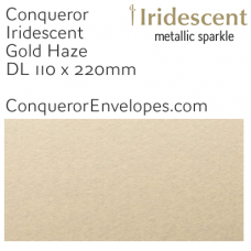 Iridescent Gold Haze DL-110x220mm Envelopes