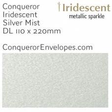 Iridescent Silver Mist DL-110x220mm Envelopes