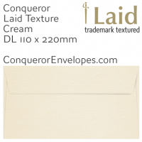 Laid Cream DL-110x220mm Envelopes