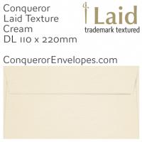 Laid Cream DL-110x220mm Envelopes
