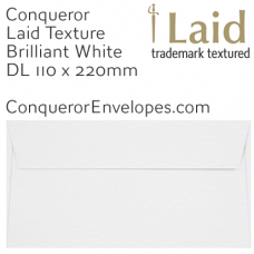 Laid Brilliant White DL-110x220mm Envelopes
