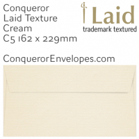 Laid Cream C5-162x229mm Envelopes