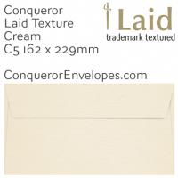 Laid Cream C5-162x229mm Envelopes