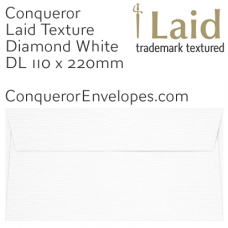 Laid Diamond White DL-110x220mm Envelopes