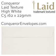 Laid High White C5-162x229mm Envelopes