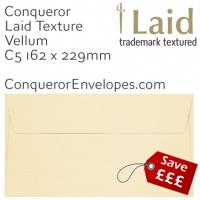 Laid Vellum C5-162x229mm Envelopes