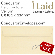 Laid Vellum C5-162x229mm Envelopes