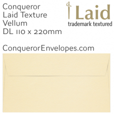 Laid Vellum DL-110x220mm Envelopes