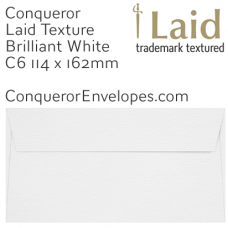 Laid Brilliant White C6-114x162mm Envelopes