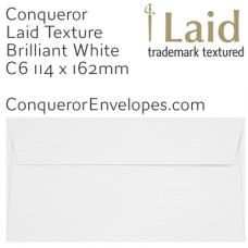 Laid Brilliant White C6-114x162mm Envelopes