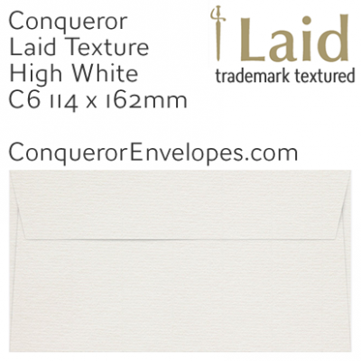Laid High White C6-114x162mm Envelopes