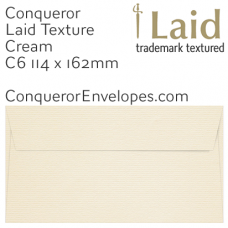 Laid Cream C6-114x162mm Envelopes