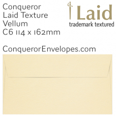 Laid Vellum C6-114x162mm Envelopes