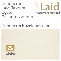 Laid Oyster DL-110x220mm Window Envelopes