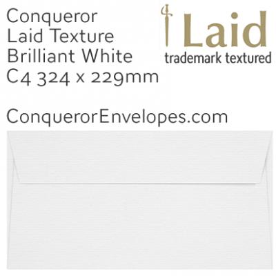 Laid Brilliant White C4-324x229mm Envelopes