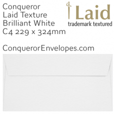 Laid Brilliant White C4-324x229mm Pocket Envelopes
