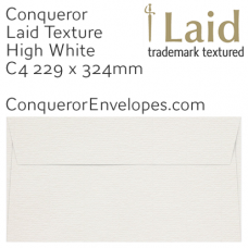Laid High White C4-324x229mm Pocket Envelopes