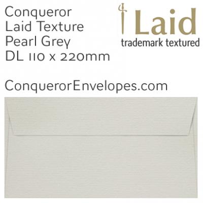 Laid Pearl Grey DL-110x220mm Envelopes