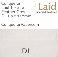 Laid Feather Grey DL-110x220mm Envelopes