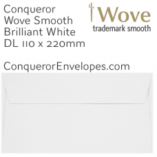 Wove Brilliant White DL-110x220mm Envelopes