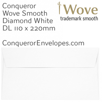Wove Diamond White DL-110x220mm Envelopes