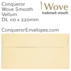Wove Vellum DL-110x220mm Envelopes