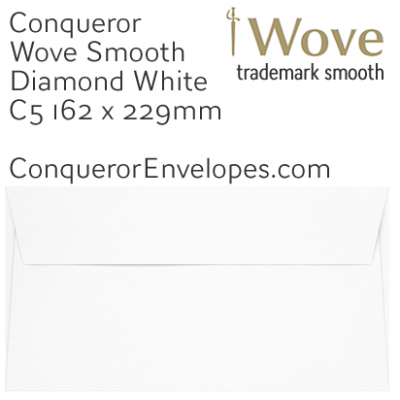 Wove Diamond White C5-162x229mm Envelopes