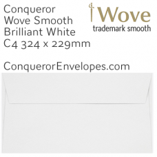 Wove Brilliant White C4-324x229mm Pocket Envelopes