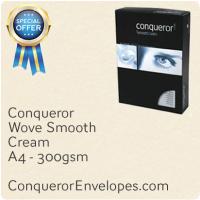Wove Cream A4-210x297mm 300gsm Paper