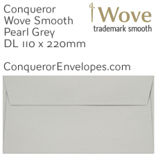 Wove Pearl Grey DL-110x220mm Envelopes