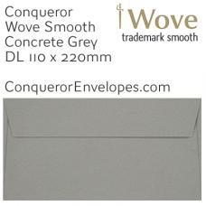 Wove Concrete Grey DL-110x220mm Envelopes