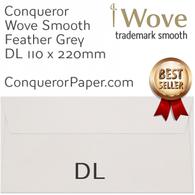 Wove Feather Grey DL-110x220mm Envelopes