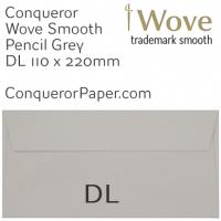 Wove Pencil Grey DL-110x220mm Envelopes